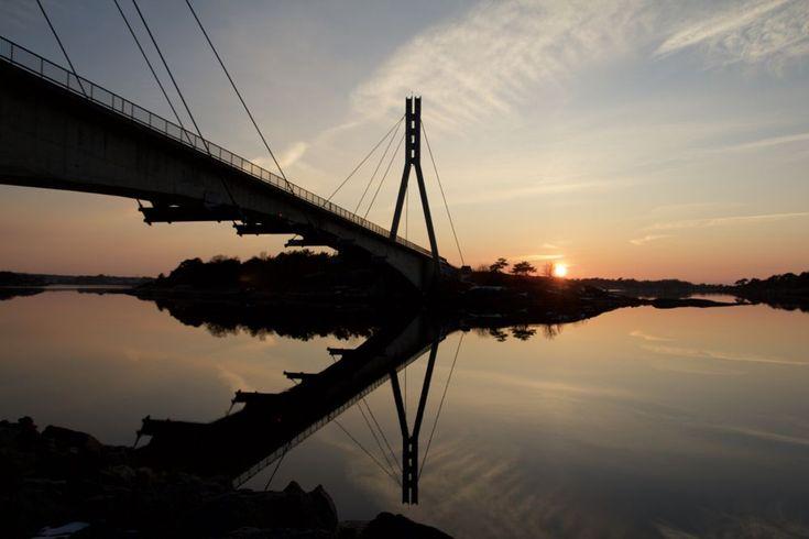 Bridge over still water by Cecilie Hansteensen