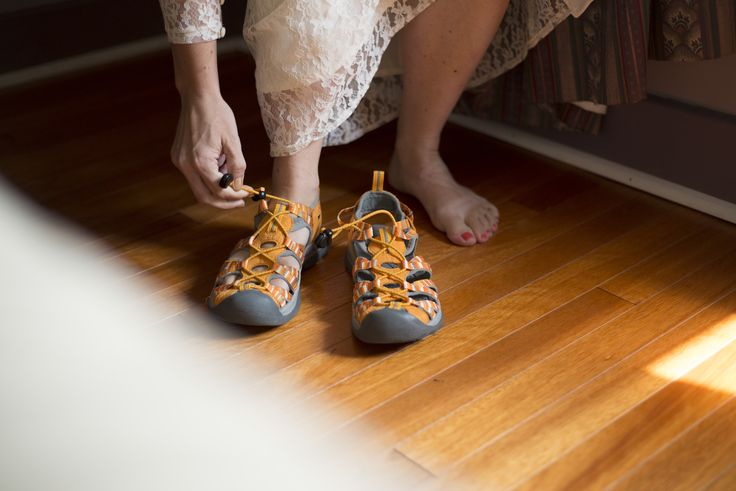KEEN Whisper Sandals on my wedding day!