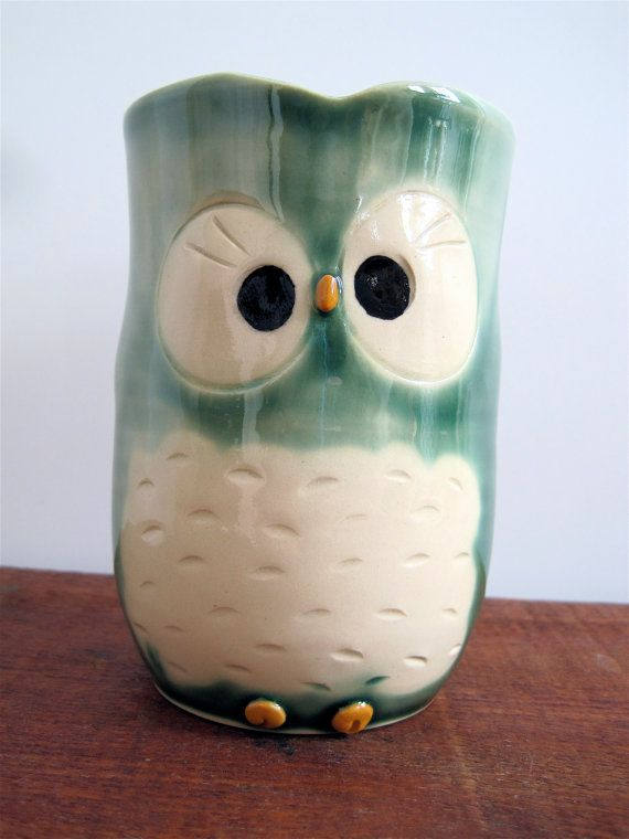 Custom Listing for ChristinaT - Yellie Cellie Green Hooter Toothbrush Cup