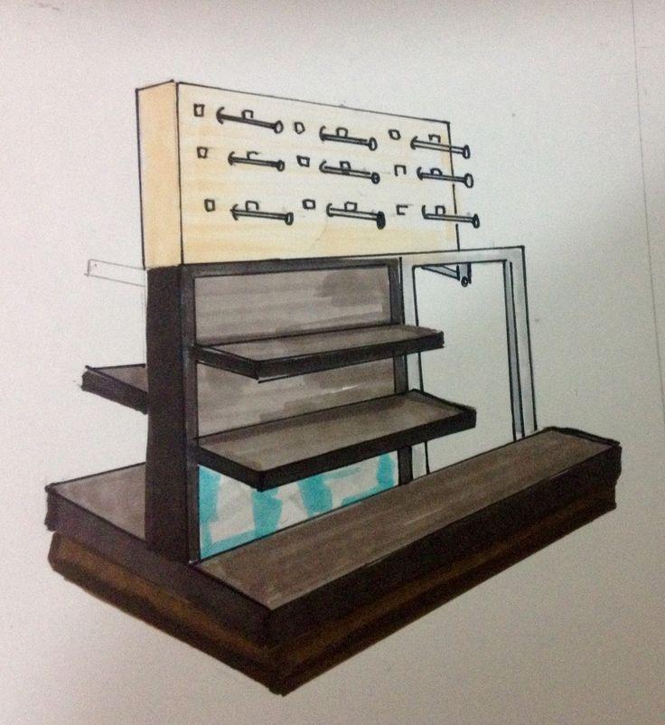 Scketch mueble comercial By Erika Martínez