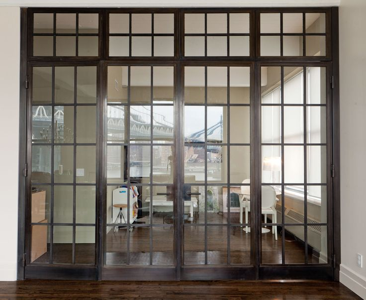 Steel & Glass Partitions design by David Cunningham / fabrication by Argosy Designs