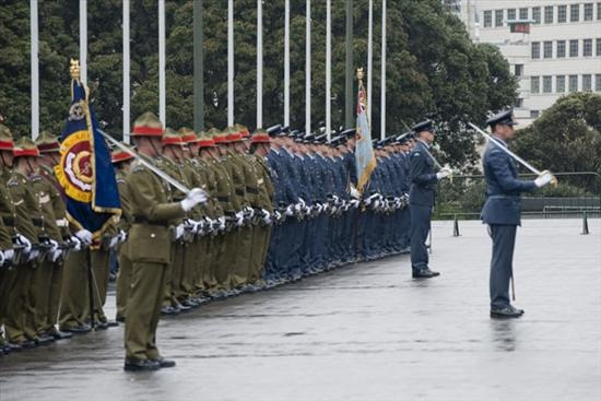 State farewell on Parliament steps for retiring Governor General Sir Anand Satyanand