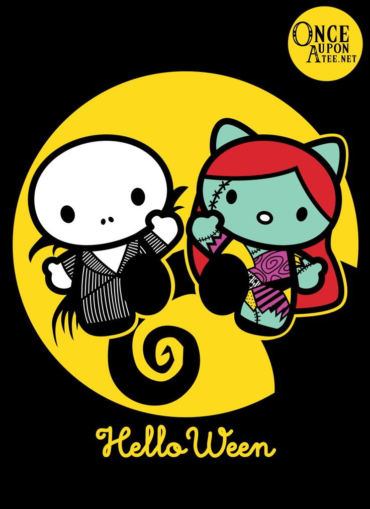 """""""Helloween"""" brings Jack and Sally into a world of total adorability.  Created by: Samtronika"""