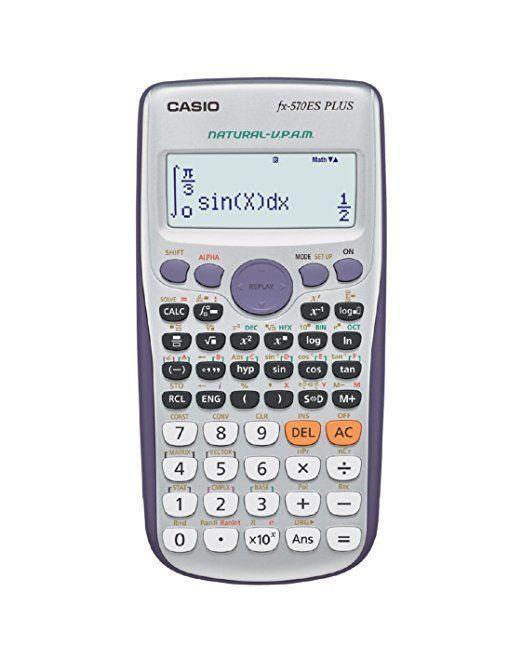 CASIO FX-570 ES PLUS calcolatrice scientifica - 417 funzioni, alimentazione a batteria