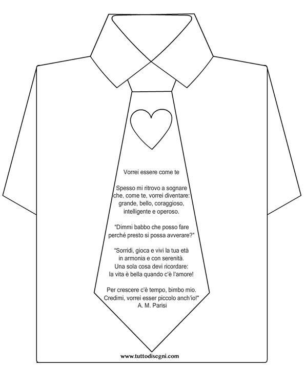 Biglietto per la Festa del Papà con poesia - Tutto Disegni