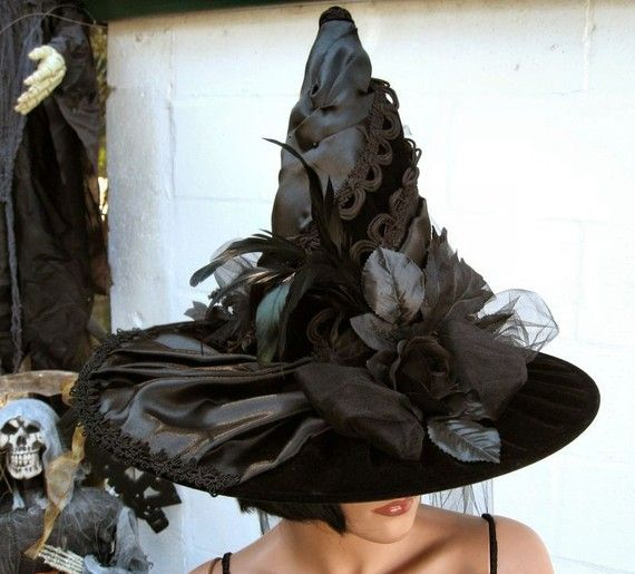 Victorian Gothic Witch Hat Deluxe by TheBohemianGoddess on Etsy, $135.00