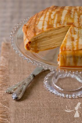 Gâteau de crêpes au mascarpone et caramel au beurre salé http://www.recettes-bretonnes.fr/?p=6087