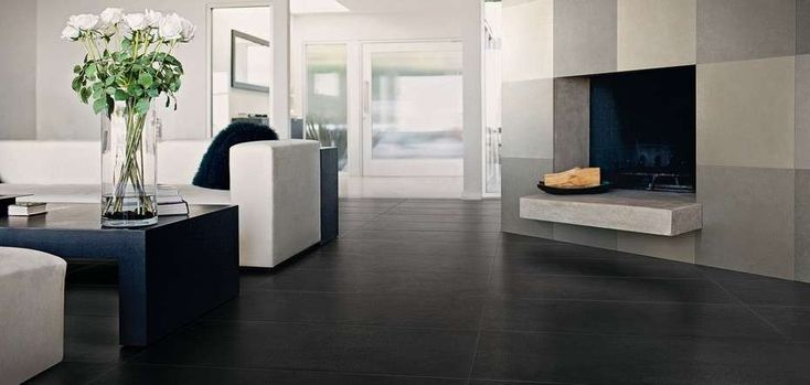 Arredare casa con pavimento scuro per un ambiente dallo ...