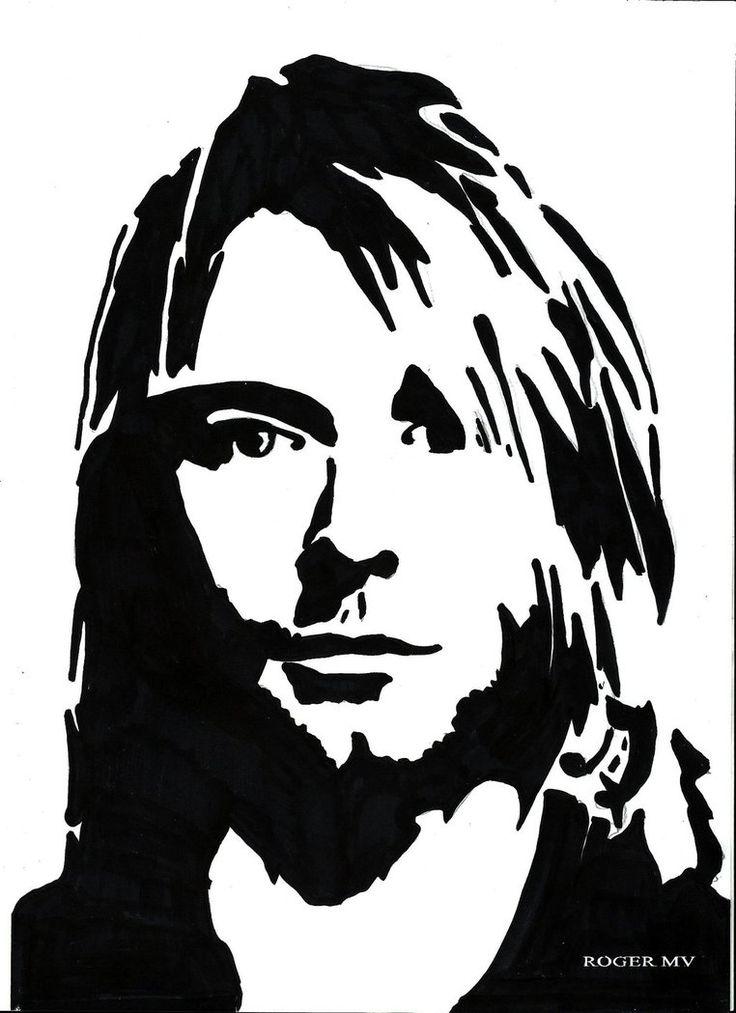 Kurt Cobain self portrate by RogerMV