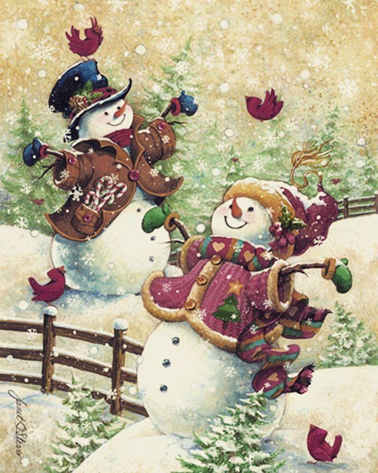 Снеговик на картинках и открытках