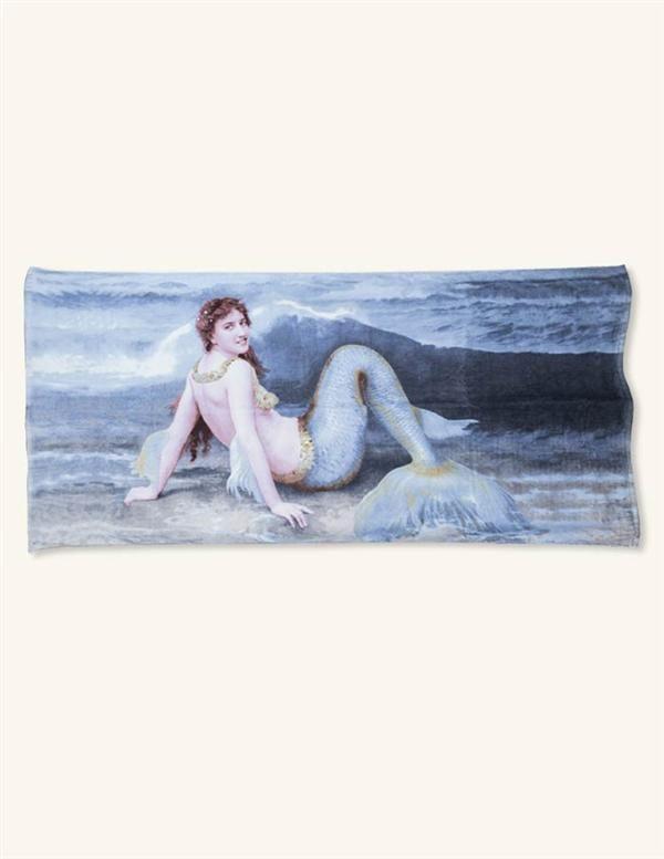 Mermaid Beach Towel | Victorian Mermaid Towel