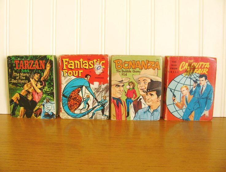 Vintage Big Little Books Tarzan, The Fantastic Four, Bonanza, The Man From U.N.C.L.E. Comic Books Marvel Comics Tarzan Book Whitman Books by HipCatRetroVintage on Etsy