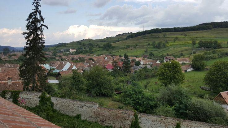 Vedere din cetatea fortificată de la Biertan
