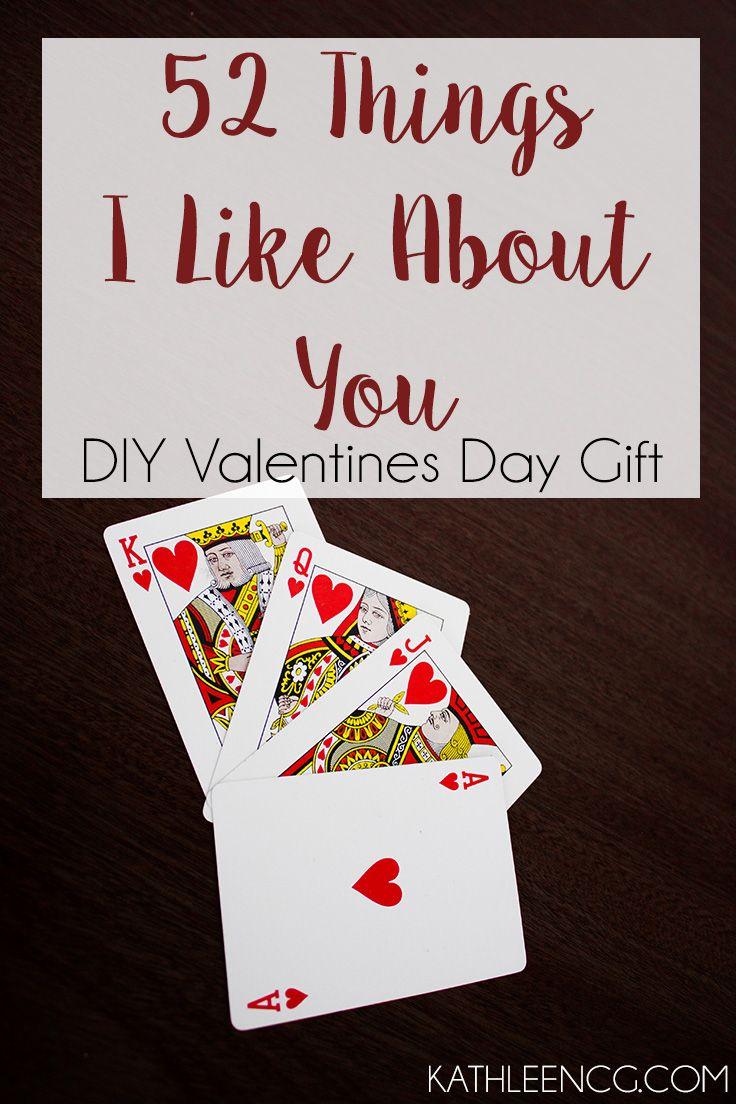 DIY Valentines Gift: 52 Things I Like About You | KathleenCG.com