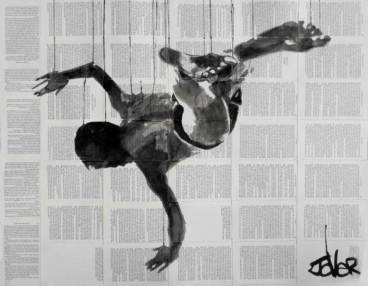 "Saatchi Art Artist: Loui Jover; Ink 2014 Drawing ""gravity"""