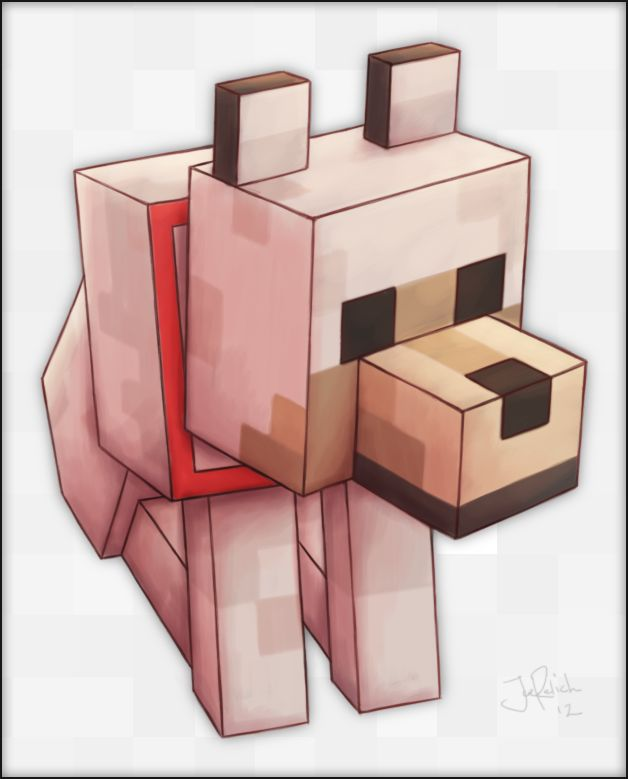 Minecraft Wolf by spades4 on DeviantArt