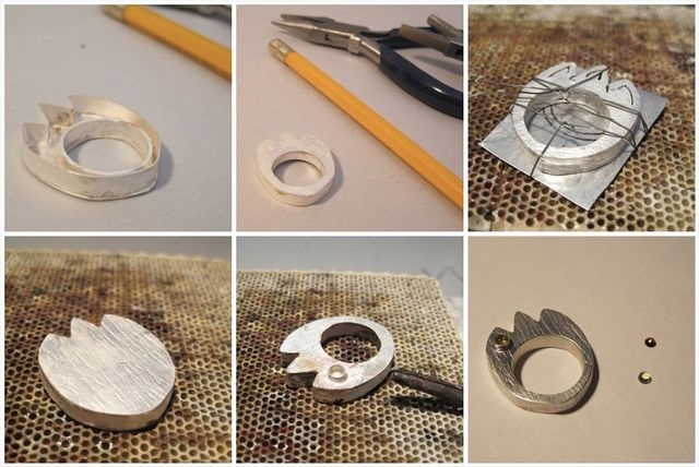 """Hollow Form Tulip Ring"" (Process Pics) by Maria Apostolou, via Flickr"