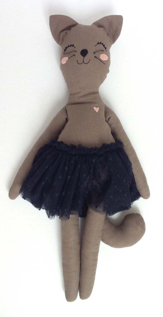 Bunny Doll Ballerina with pink tulle tutu by MiniBoheme on Etsy