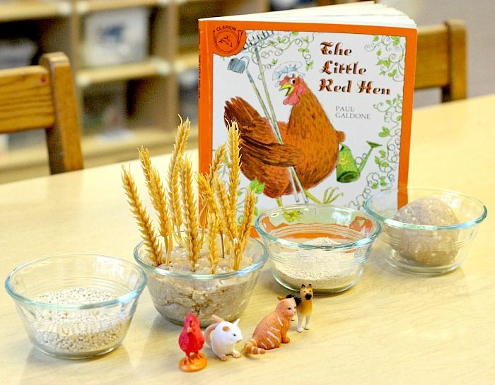 """Little Red Hen Activity – Retelling through Sensory Play... from Fun-A-Day! ("""",)"""