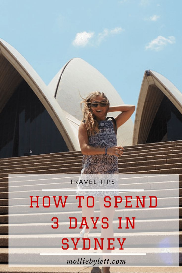 How to spend 3 Days in Sydney, Australia. a full 3 day itinerary with plenty of options to make the most of your time in the beautiful city down under!   RePinned by : www.powercouplelife.com