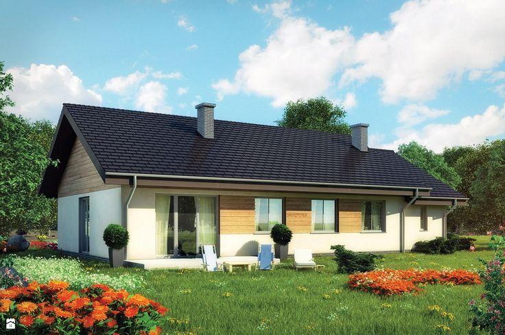 Projekt Domu - Murator C107a - Kształtny wariant I - zdjęcie od Murator PROJEKTY - Ogród - Styl Tradycyjny - Murator PROJEKTY