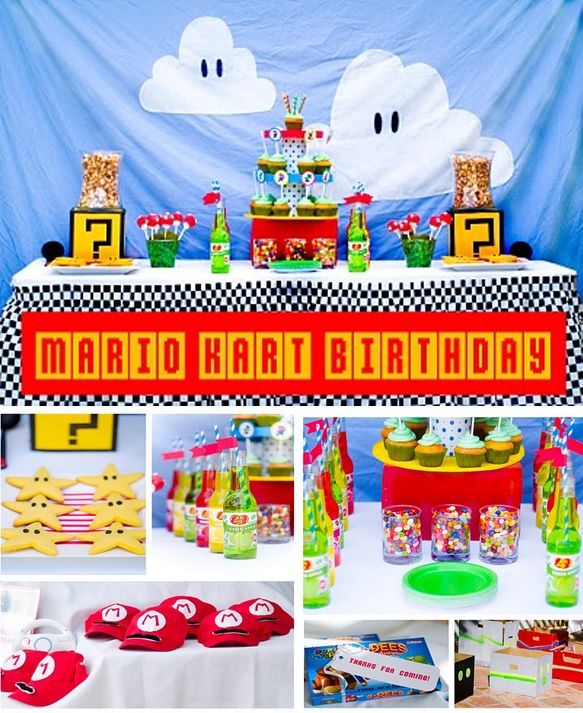 58 Best Images About Mario Karts Birthday Party On