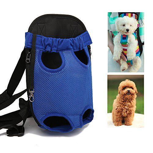 Pawaboo Dog Backpack Pet Adjustable Saddle Bag Harness Carrier For