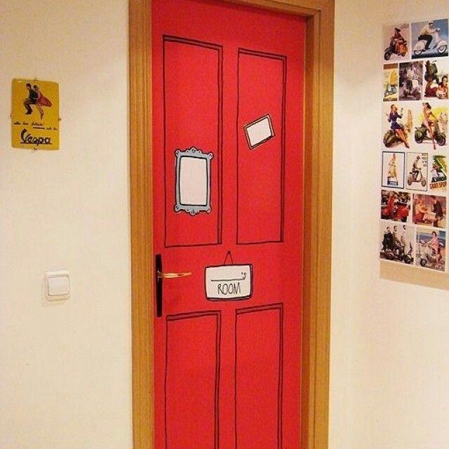 Uma simples porta colorida pode encher a casa de alegria # ...