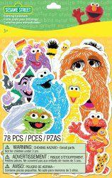 78pc Sesame Street Crafting Cardstock Pieces for Arts, Crafts & Embellishments  #Kids #Sesame #Street #Crafts