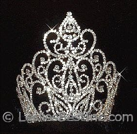 beauty pageant crown large | ... Tiaras & Crowns :: Tiaras & Crowns over 4 inches :: Beauty Queen Crown