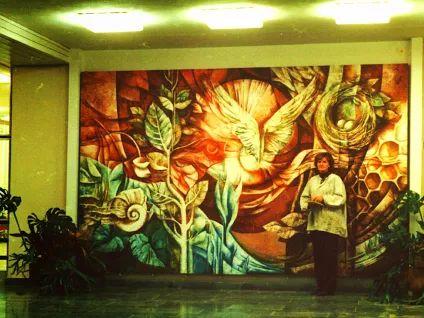 Monum.malba ve vstup.hale ZŠ Kldno Kročehlavy 200 x 380cm