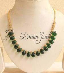 Buy BEAUTIFUL SEMI PRECIOUS GREEN BEADED NECKLACE  Necklace online