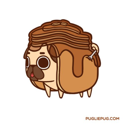 Pugcakes with extra syrup for your morning ❤Have a wonderful day, everyone :D !