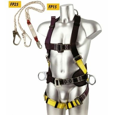 The Portwest FP64 Scaffolding Kit comes complete with a double shock absorber lanyard and two large hooks. This safety harness allows a scaffolder, steeplejack or roofer, to transfer between points without leaving them unprotected.