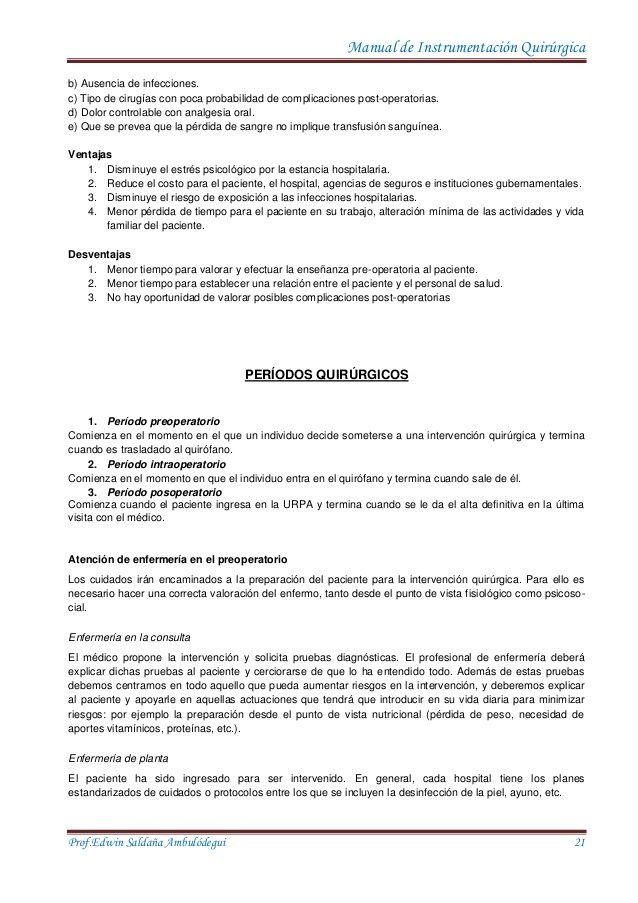 Manual De Instrumentación Quirurgica