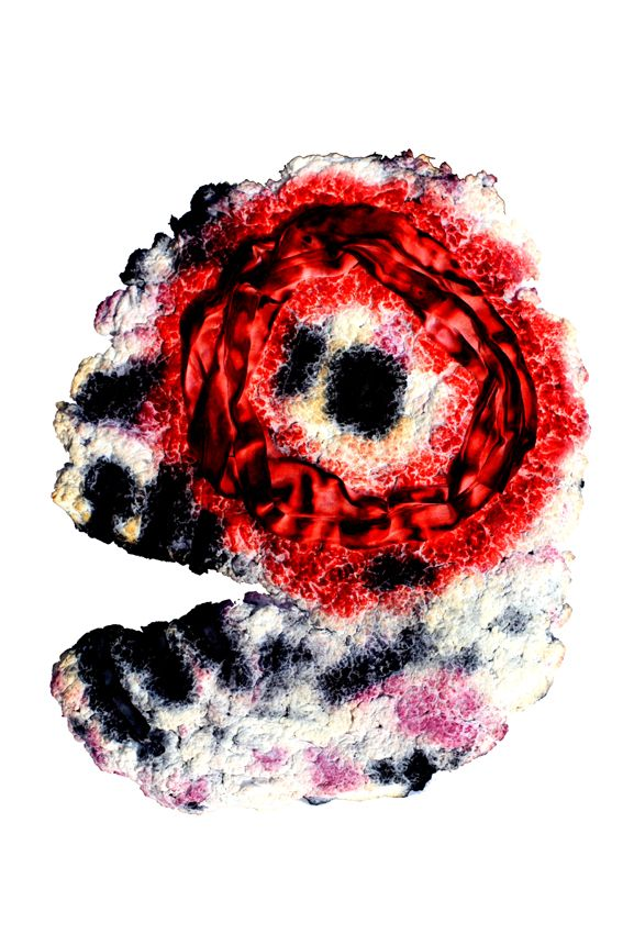 Self-portrait Technique: paper pulp, cotton, dye, Maciej Zabawa