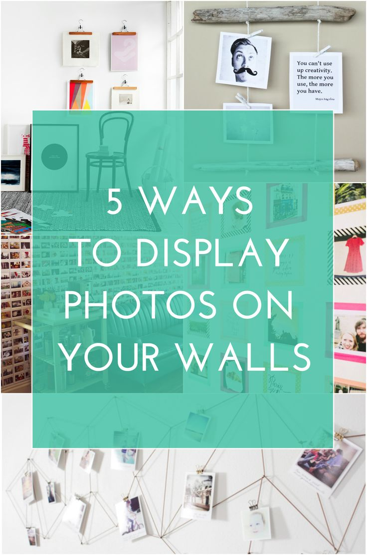 5 Ways to Display Photos on Your Walls
