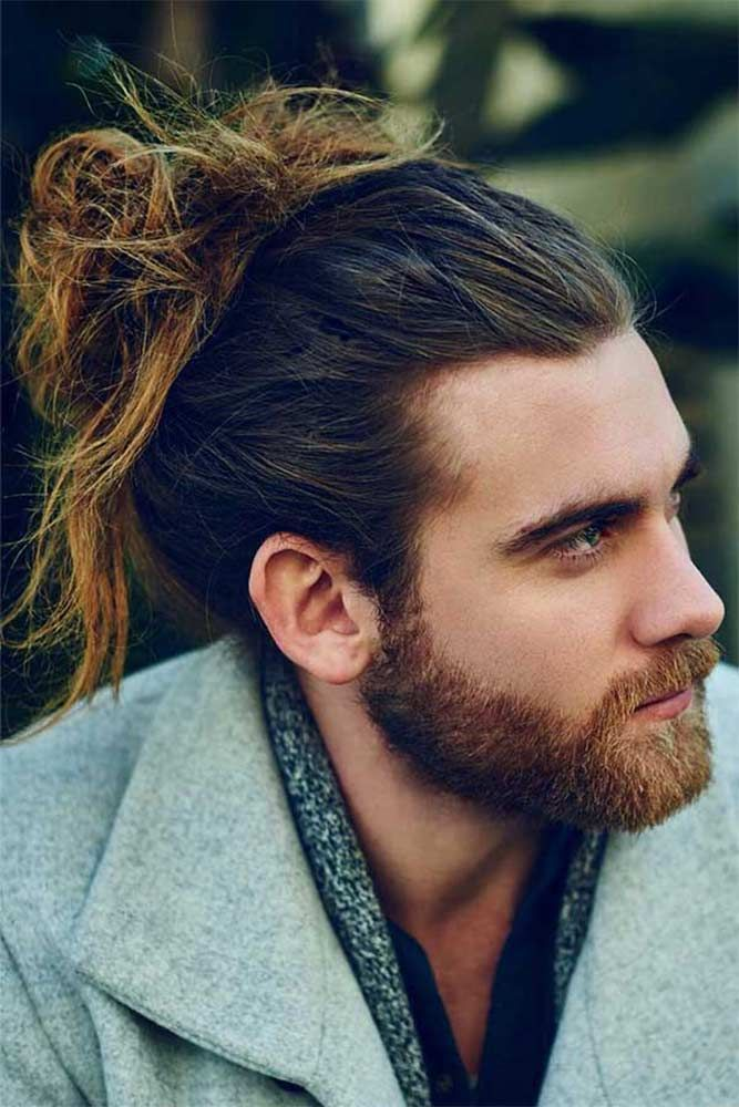 How To Get Style And Sport The On Trend Man Bun Hairstyle Man