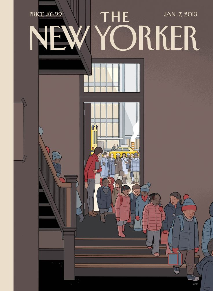 The New Yorker cober by Chris Ware