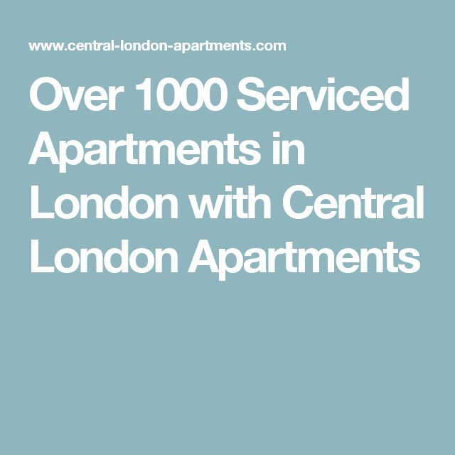 Over 1000 Serviced Apartments in London with Central London Apartments