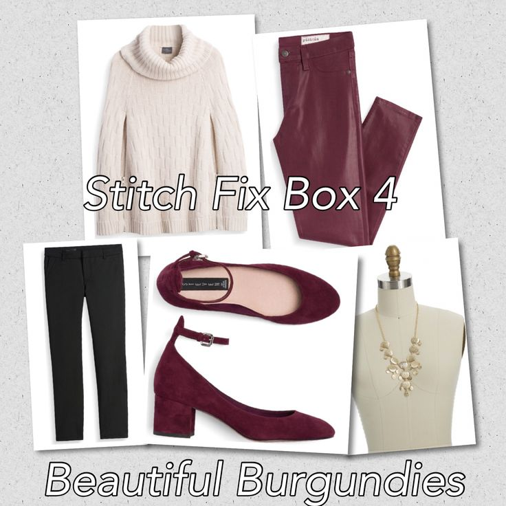 My Stitch Fix stylist knocked it out of the park with my fourth box for fall fashion. A cape sweater in a creamy winter white. Coated skinny jeans in burgundy. A short block heel in burgundy faux suede.Like what you see? Check out #stitchfix, a subscription that goes on your schedule and follows your style.