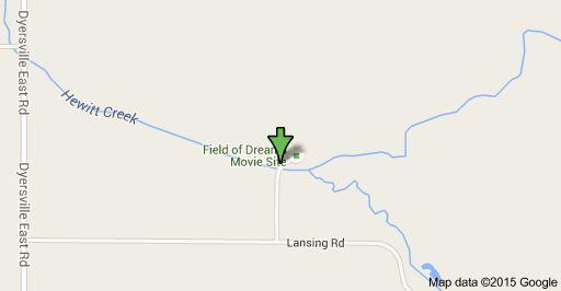Map of 1200 - 1498 Field of Dreams Way, Dyersville, IA 52040, USA