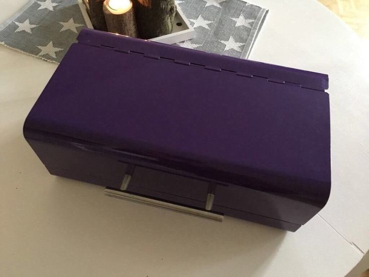 Brotkasten Metall Edelstahl lila Brotbox Brotkorb Brotdose, 18€