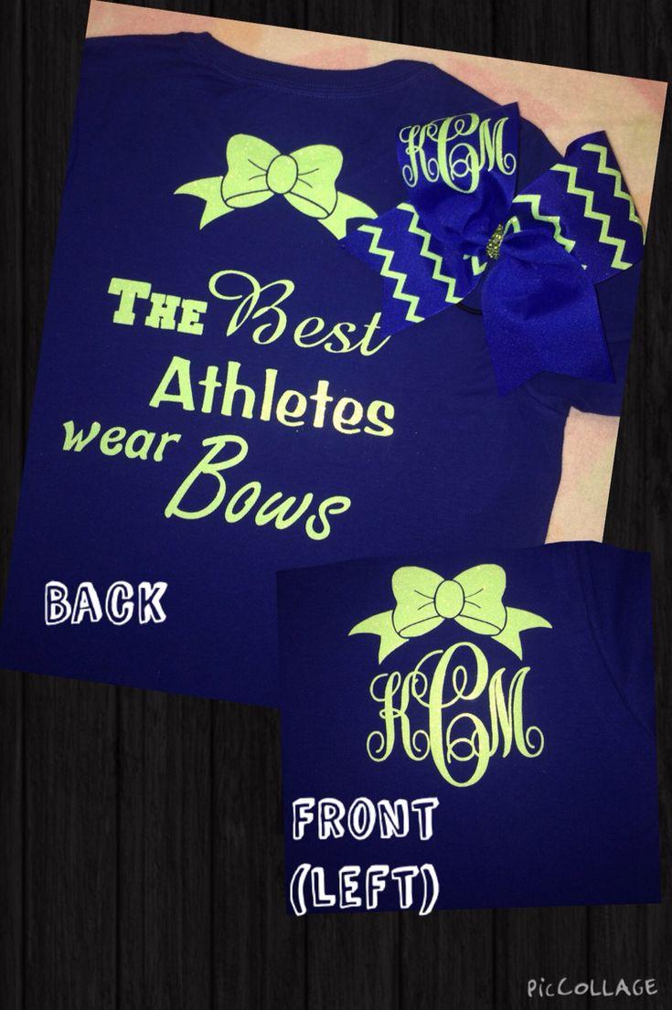 Cheer Monogram Shirt & Bow