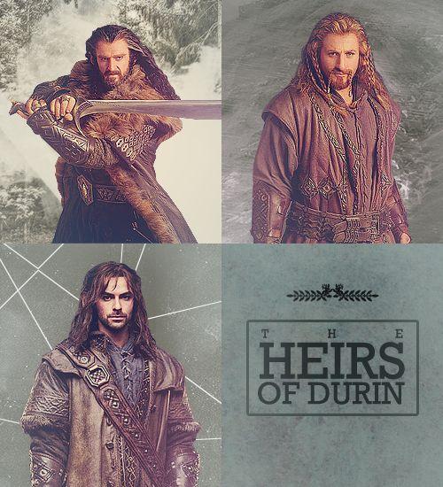 The Heirs of Durin: Thorin, Fili, and Kili