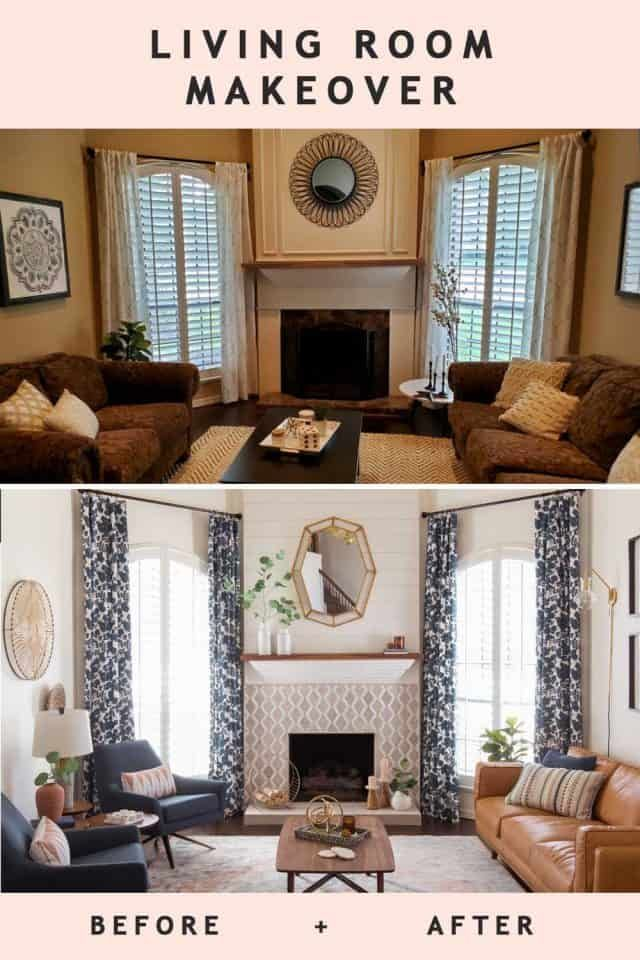 Before After A Transitional Living Room Makeover In 2020