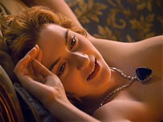 #KateWinslet posing as one of Jack's French girls in #Titanic.