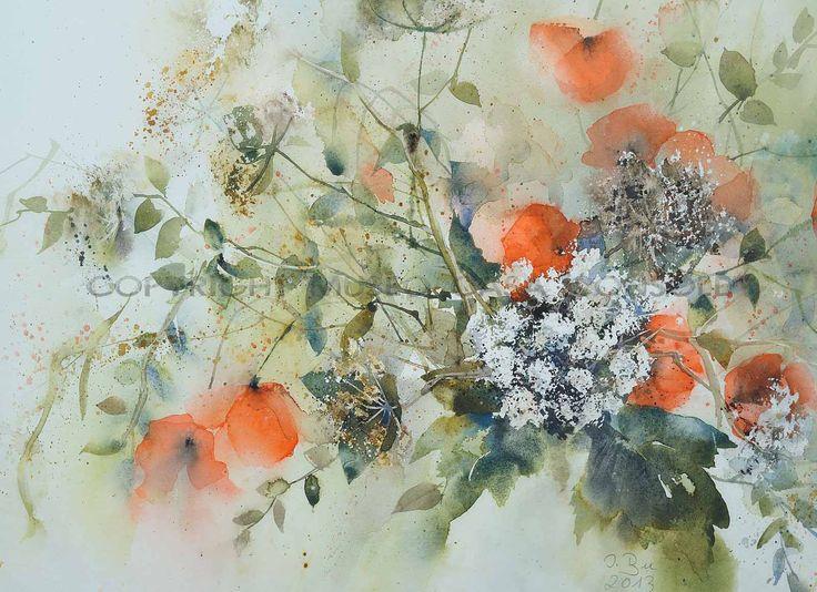 Ingrid Buchthal - Papavero rosso