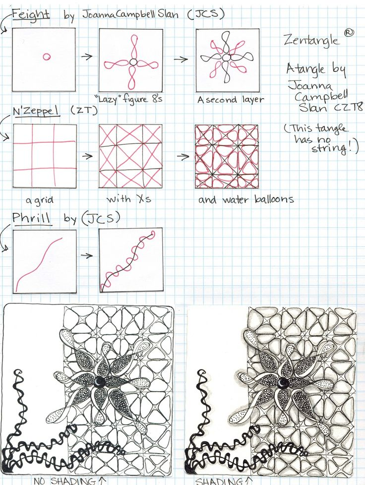 zentangle patterns step by step | Joanna Campbell Slan: August 2012