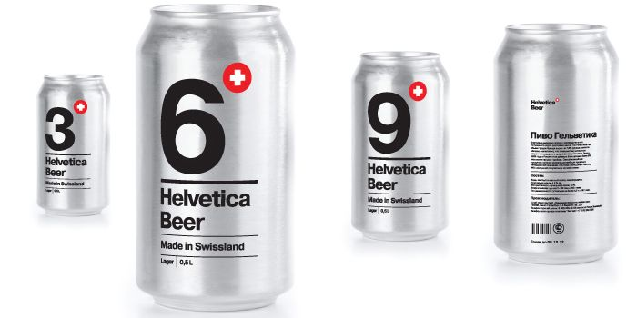 Student Spotlight: Helvetica Beer - The Dieline -